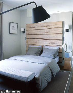 T te de lit en bois recycl de bateaux 160cm d tails - Tete de lit en bois de recuperation ...
