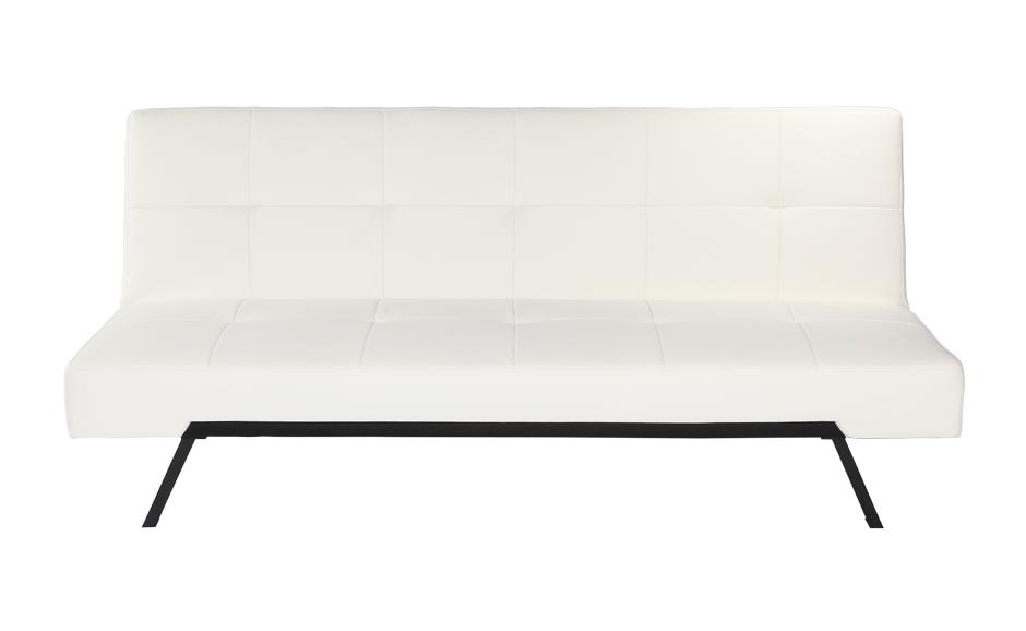 Canapé lit blanc milano