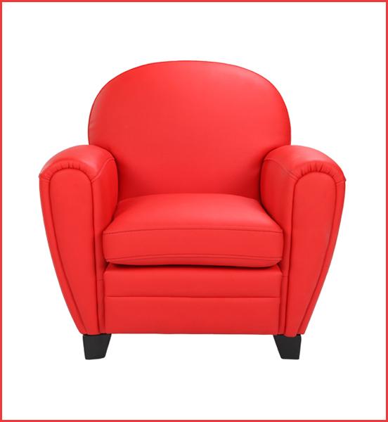 fauteuil club enfant rouge