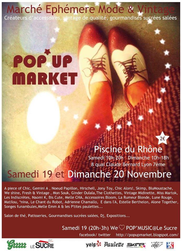 Pop up market Lyon