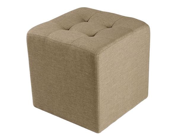 Pouf carré tissu