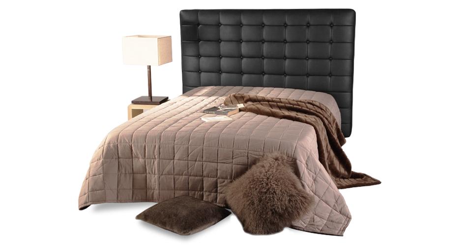 Tête de lit baroque noire