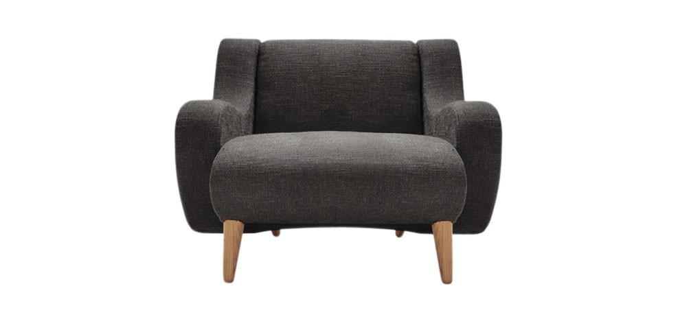 acheter fauteuil gris design petit prix