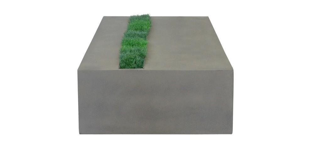 achat table basse béton herbe pas cher