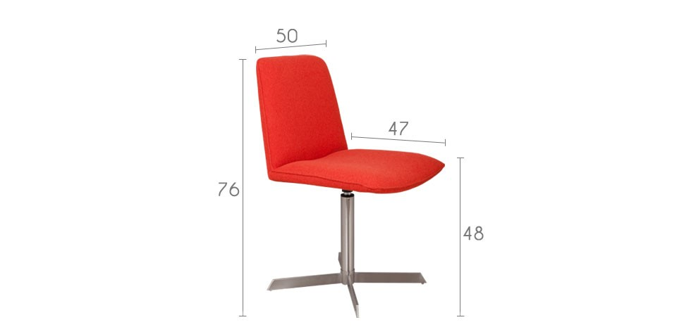 chaise orange design prix usine