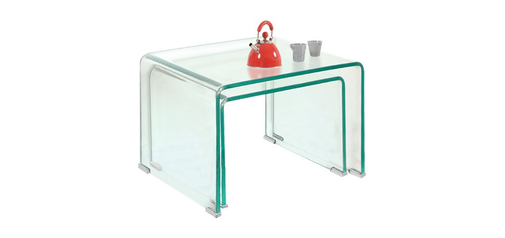 acheter tables basses gigognes transparentes prix usine