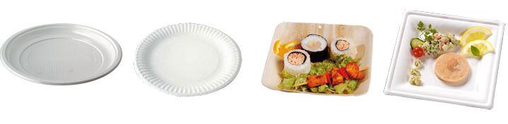 assiettes jetables en bois