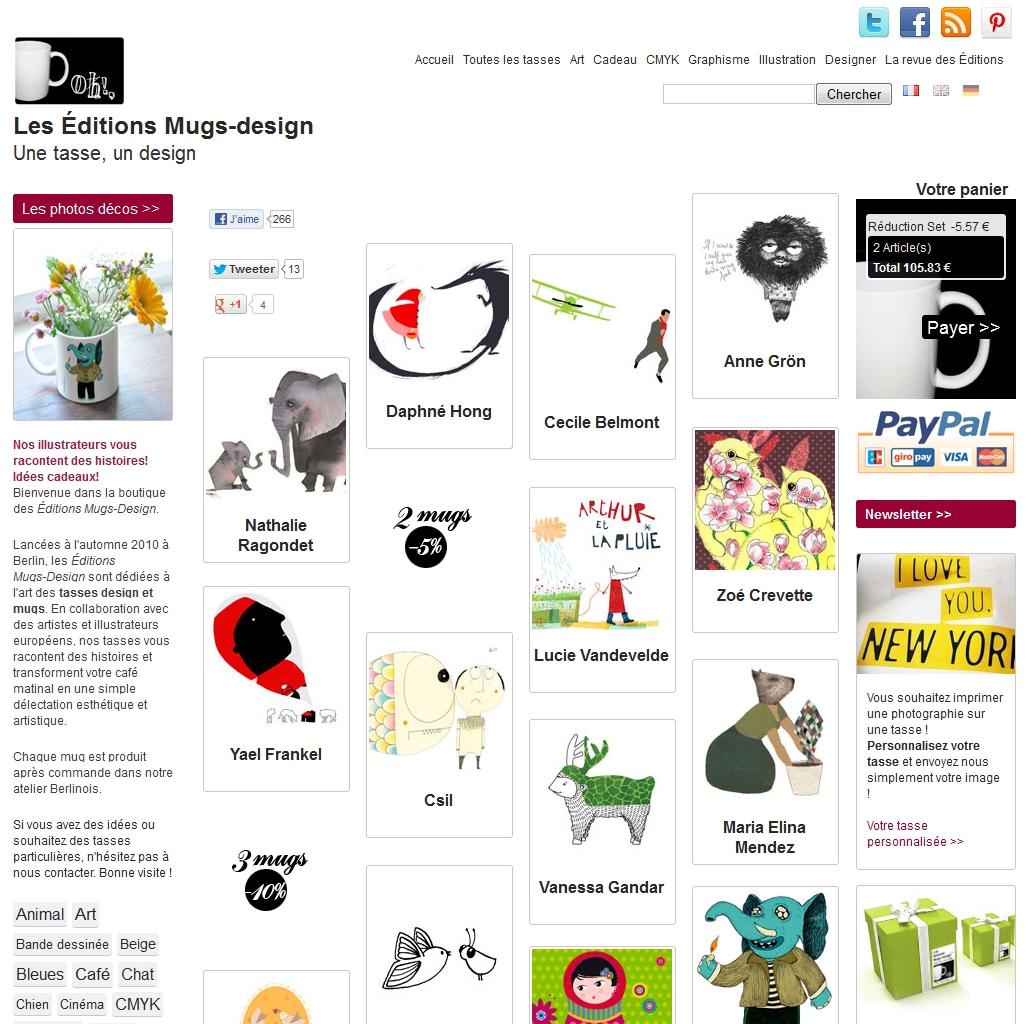 mugs design, un blog dédié à l'art de la tasse et du mug