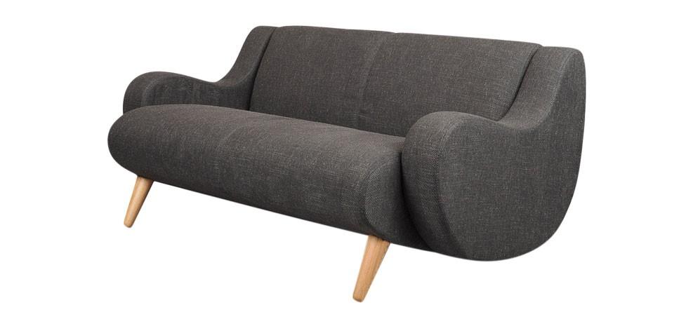 canapé deux places polyester pas cher