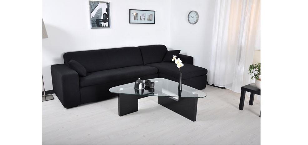 canapé en tissu noir design