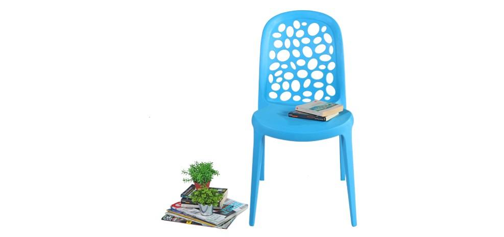 achat chaise bleue en plastique design