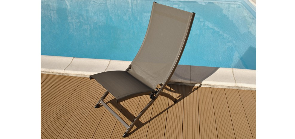 la chaise longue Porto Fino taupe