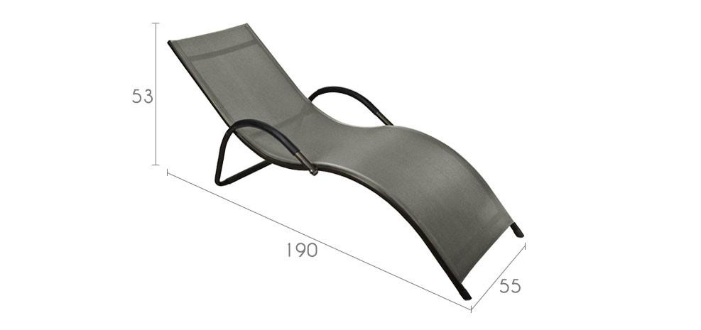 achat chaise longue en toile prix usine