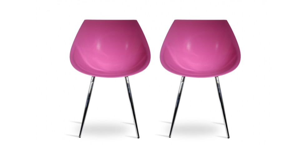 acheter chaise pop rose design