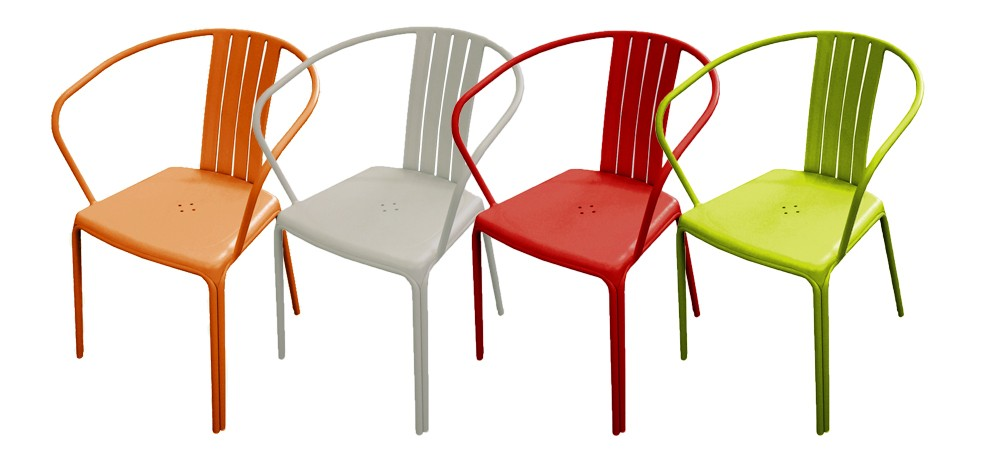 chaise de jardin aluminium design