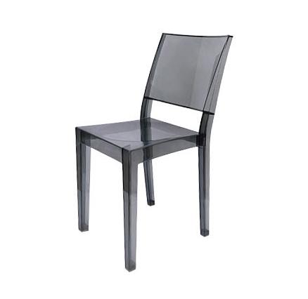 chaise grise transparente