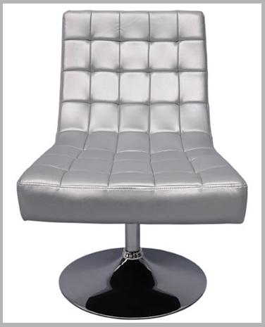 fauteuil aaron argent
