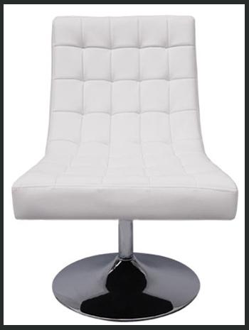 fauteuil aaron blanc