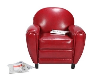 fauteuil rouge club