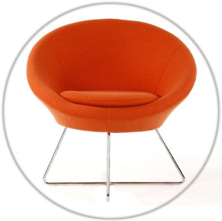 fauteuil orange aiko