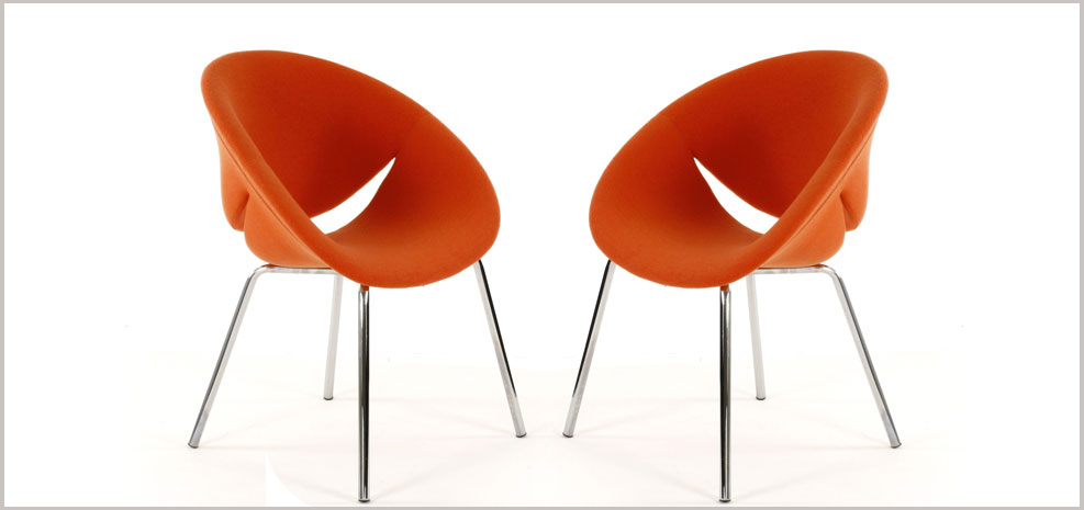 fauteuil orange Lips