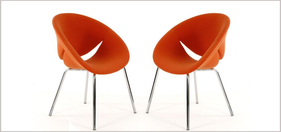 fauteuil orange Lips