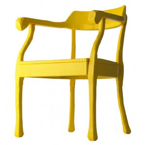 Fauteuil Raw jaune Muuto