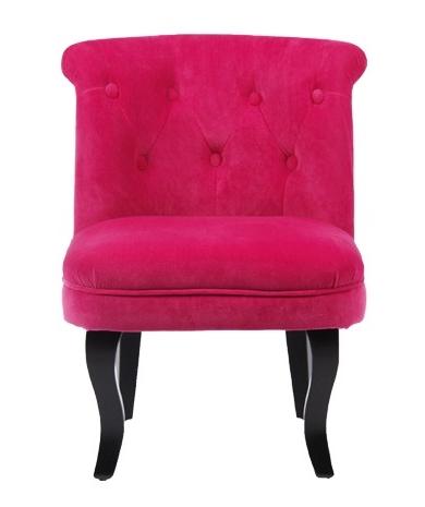 achat fauteuil velours rose design prix usine