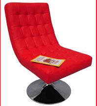 fauteuil rouge aaron