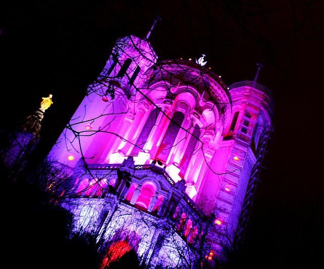 fête des lumières 2012 à lyon, Fourvière
