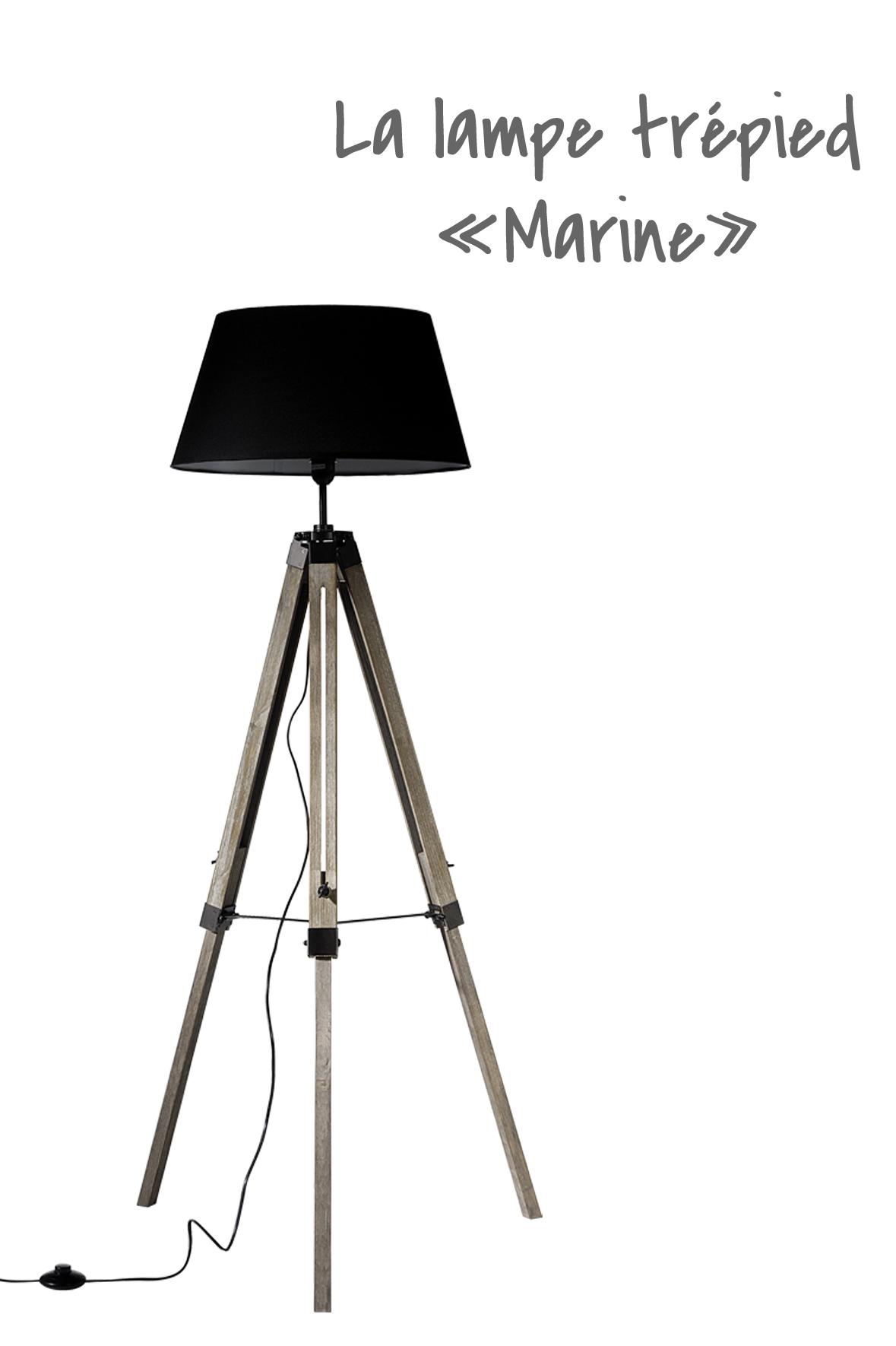 Lampe trépied marine