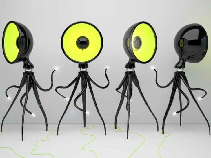 luminaire octopussy par vladimir tomilov