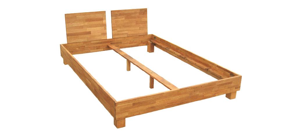 acheter lit deux places en bois clair pas cher