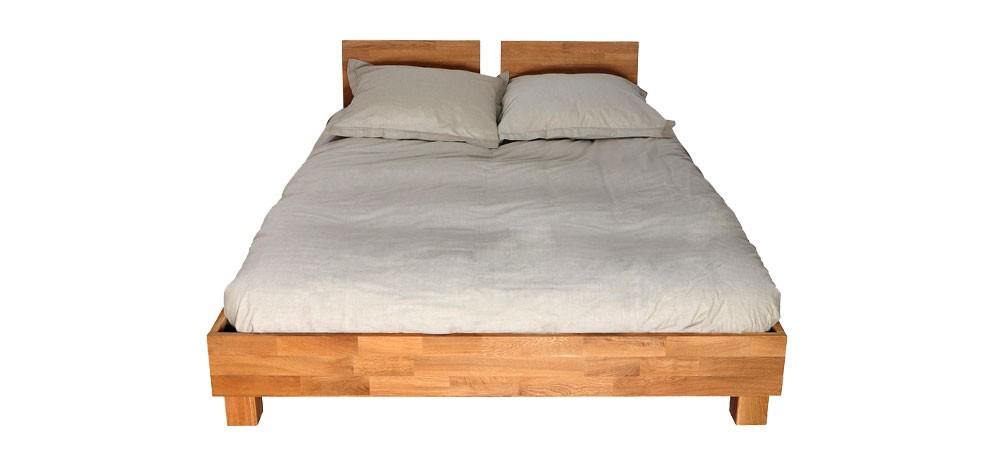 lit style scandinave en bois clair pas cher