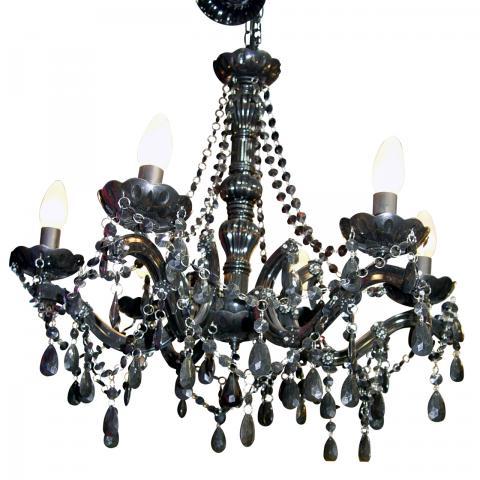 Lustre baroque noir