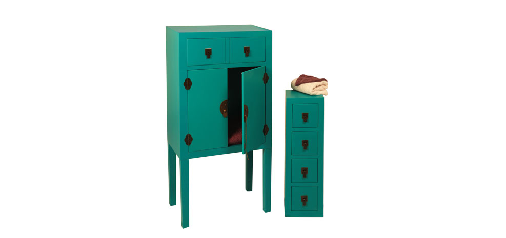 Blog vente priv e num ro 18 armoire shanghai bleue for Meuble asiatique