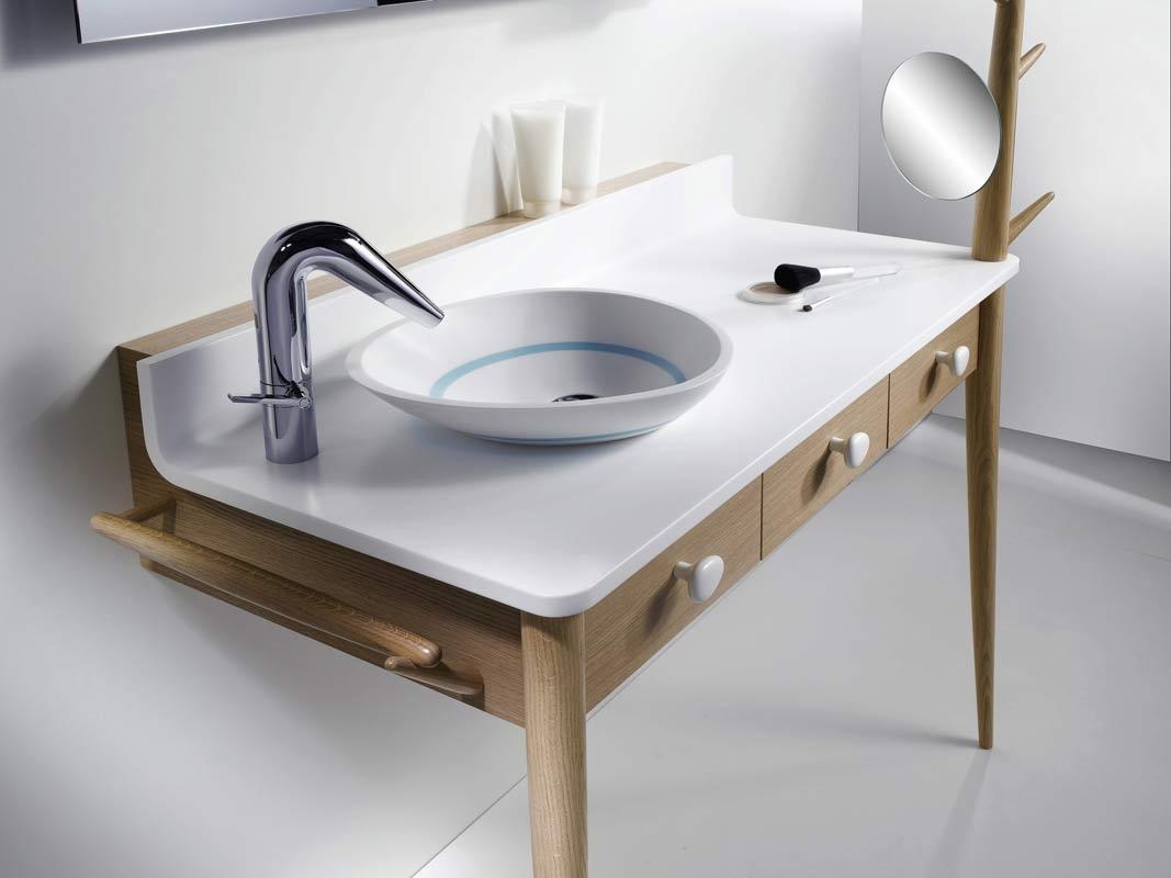 meubles pour salle de bain en bois