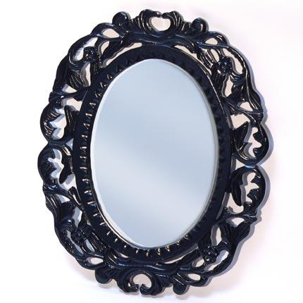 Miroir baroque noir