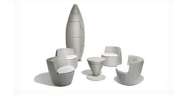 Blog - Du mobilier de salon design et empilable en forme de fusée !