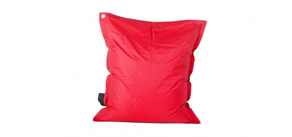 square red pouf