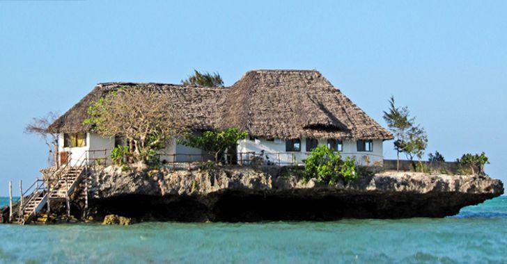 restaurant design à Zanzibar, sur la mer