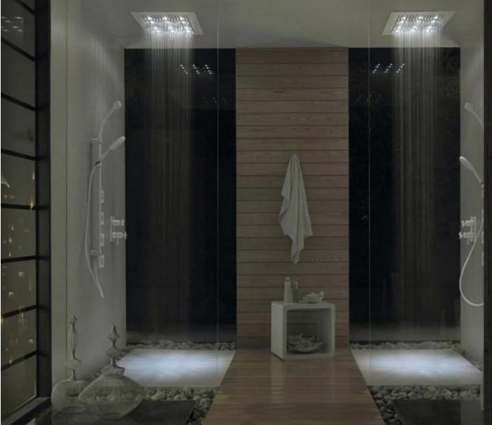 douche de lumière design