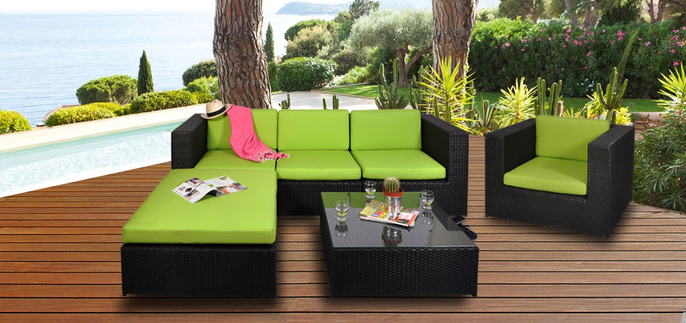Blog - Vente privée numéro 19 : salon de jardin Malaga vert