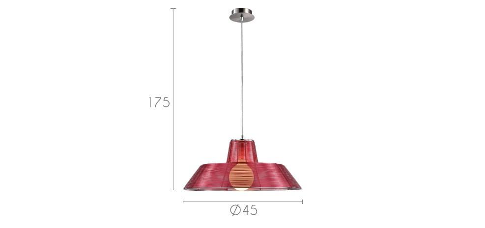 suspension rouge aluminium design