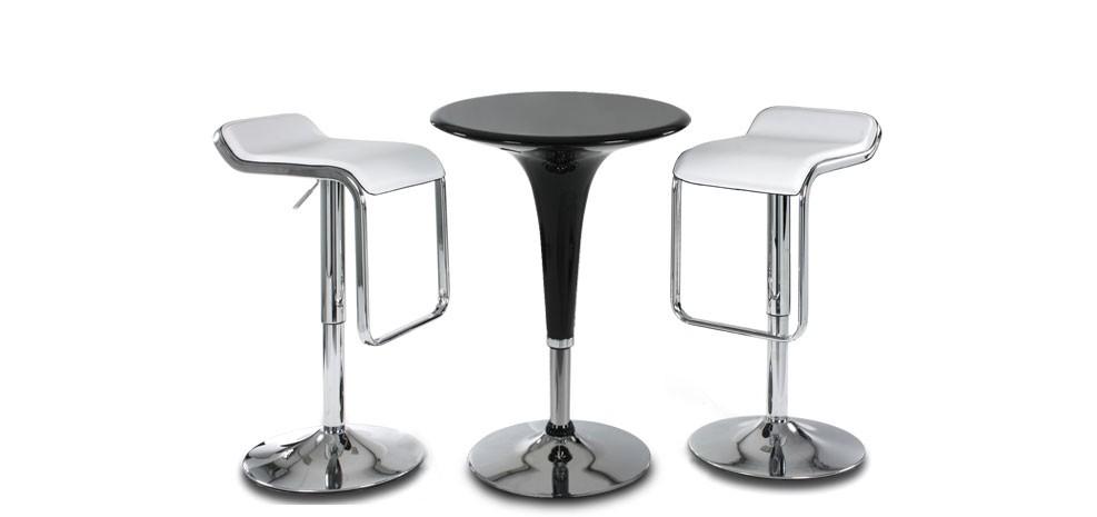 table de bar ronde style pop