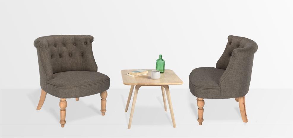 acheter table basse en bois carrée pas chère