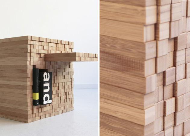 table basse modulable pixel par Intussen Studio