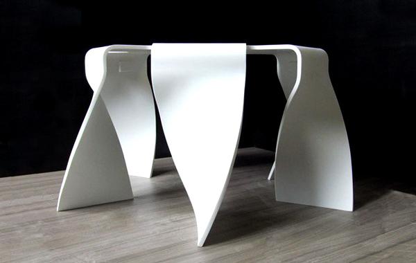 table basse design en corian par kasastar - Mobilier Contemporain