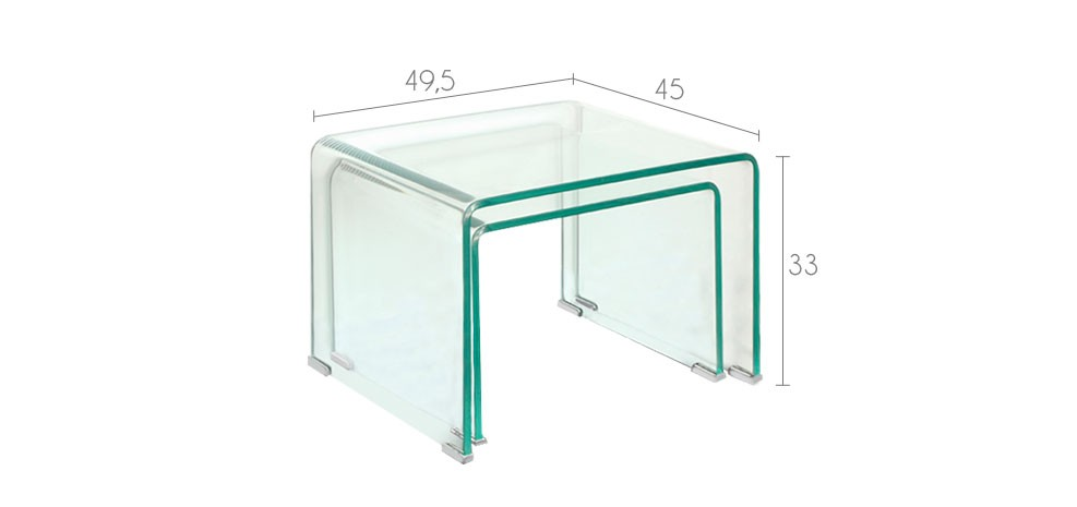 tables basses en verre design prix discount