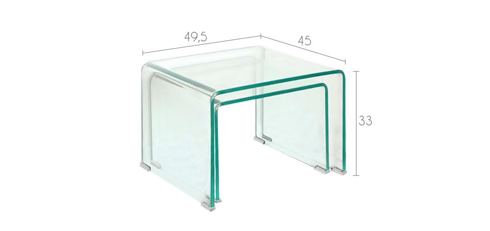 tables basses en verre design prix discount